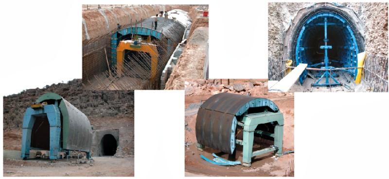 قالب فلزی بتن میلینیوم - قالب تونلهر قالب تونل دارای یک کالسکه می باشد که سگمنت های ساخته شده تاج و دیواره تونل ( که هر کدام معمولاً 1/5 متر می باشد ) برروی این کالسکه سوار می ...